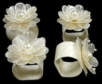 Capiz Napkin Ring Flower - Click For Larger View