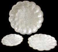 3 Pc Capiz Scallop Trays - Click For Larger View